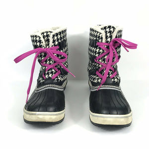 Sorel Women's Tivoli Boots 9.5 Houndstooth Fleece